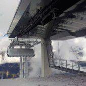 Der erste Sessel der neuen Silvretta Bahn drehte sich