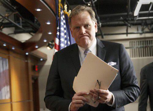 Der republikanische Ex-Abgeordnete Mike Rogers kündigte seinen Rückzug aus Trumps Übergangsteam an. Foto:ap