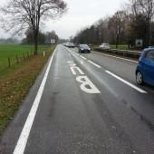 Neue Busspur in Lustenau auf der L 204