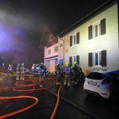 Fünf Verletzte bei Brand