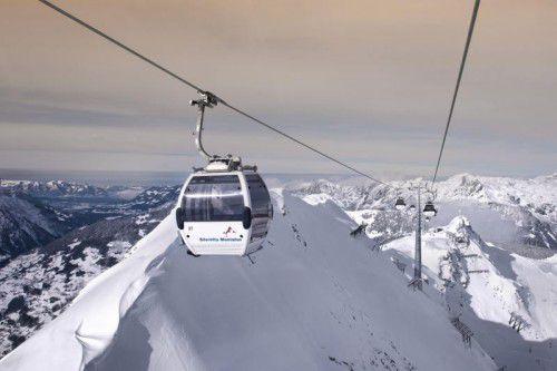 Die Seilbahnen sorgen für einen hohen Wertschöpfungsanteil in Vorarlberg und natürlich auch für das entsprechende Skivergnügen. Foto: Montafon