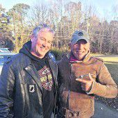 Motorradpanne: Biker helfen Springsteen