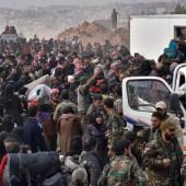 Massenflucht aus Ost-Aleppo
