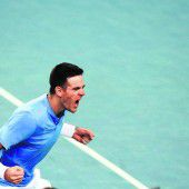 Davis-Cup-Duell ist ausgeglichen