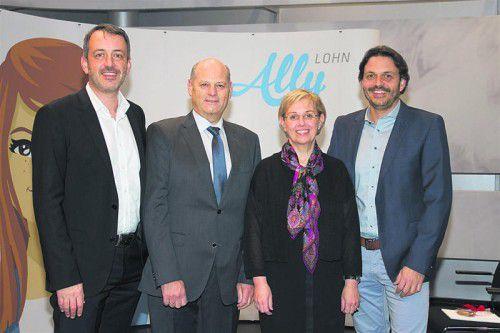 Gregor Hilbrand (l.), Dietmar Schwarz, Ingrid Kohlhaupt und Fabian Hilbrand. Fotos: Franc