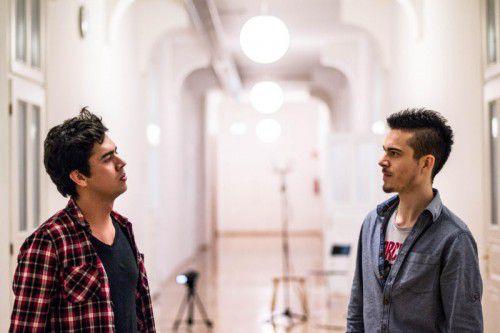 """Raphael Brunner (Akkordeon) und Juan Carlos Díaz (Querflöte) bilden """"Das Kollektiv"""". Foto: Veranstalter"""