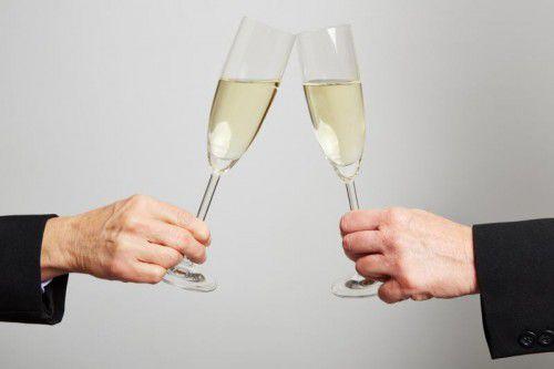 Ein Gläschen in Ehren, aber mehr sollte es nicht unbedingt sein.Kneschke