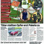 Strafanzeige wegen Raubes gegen die Täter von Götzis