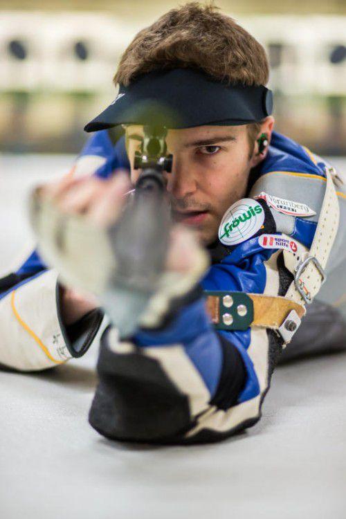 Thomas Mathis kürte sich sowohl in der Dreistellung als auch im Liegendbewerb zum VSB-Open-Champion.Foto: Steurer