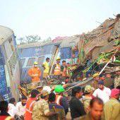 Zugunglück in Indien: Zahl der Toten steigt