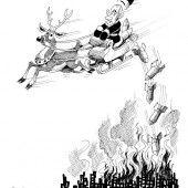 Santa Putin über Aleppo!