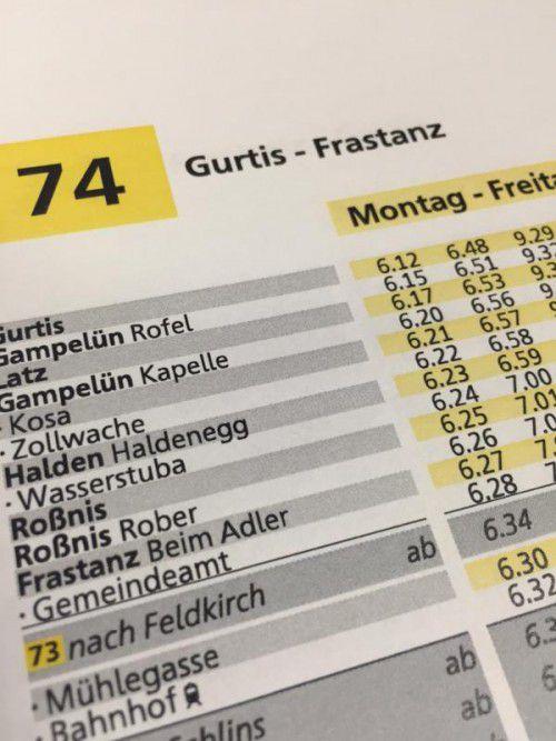 Fahrplan Der Linie 74 Wird Nachgebessert Vorarlberger