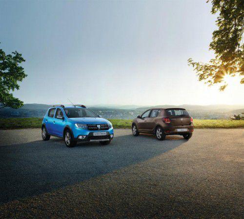 Dacia Sandero Stepway und Sandero: Beide Versionen wurden optisch und technisch aktualisiert. Fotos: werk