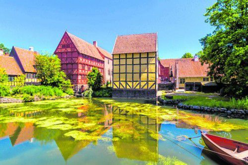 Das Freilichtmuseum gibt Einblick in die Vergangenheit Dänemarks.