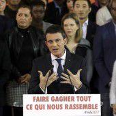 Premier Valls verkündet Kandidatur