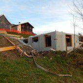 Bauarbeiten an Pfadihütte schreiten voran