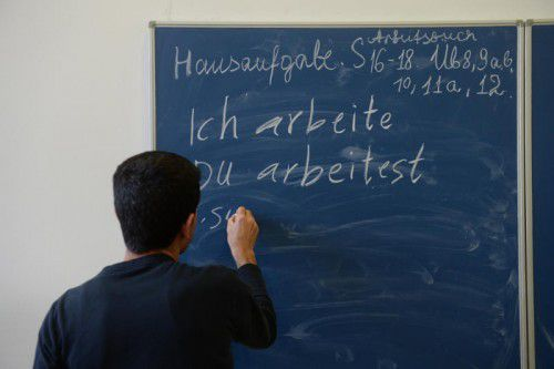 Die Finanzierung der Deutschkurse werde fortgeschrieben. Der höhere Bedarf in Vorarlberg müsse erst geprüft werden, heißt es im Integrationsfonds.DPA