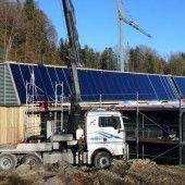 In Egg 130 m2 Solaranlage eingebaut