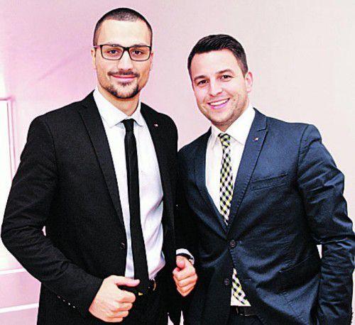 Drago Murceta (l.) und Dominik Schuchter (BTV).