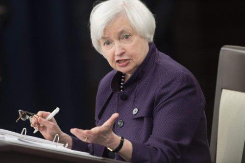 Fed-Chefin Janet Yellen gab die Zinserhöhung bekannt. Foto: AFP