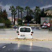 Starkregen flutet Spanien