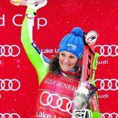 Ilka Stuhec schaffte in der Abfahrt den Doppelsieg