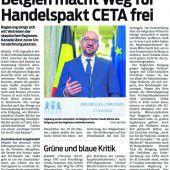 Einsatz der Wirtschaft für CETA