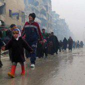 Assads Regimeflagge weht nun über Aleppo