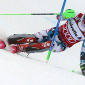 Hirscher im Slalom Dritter