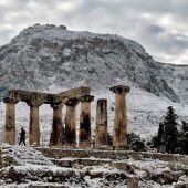 Eis und Schnee in  Griechenland