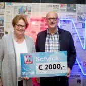 2000-Euro-Spende von treuem Ma hilft-Unterstützer