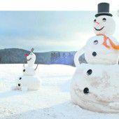 Sachsens größter Schneemann