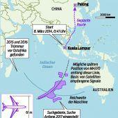 Suche nach Wrack von MH370 aufgegeben