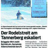 Alberschwende: Rodelverbot und Gasthaus geschlossen