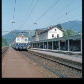 vorarlberg einst und jetzt. Hauptbahnhof Dornbirn