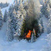 Flammen im Schnee