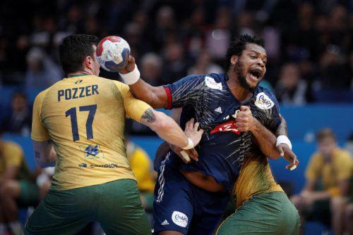 Brasilien konnte im WM-Auftaktspiel dem Druck der Franzosen (im Bild Kreisläufer Cedric Sorhaindo) nicht standhalten.  Foto: reuters