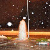 Unerwarteter Springbrunnen