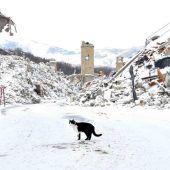 Erdbebenserie trifft  Italien im Schneechaos