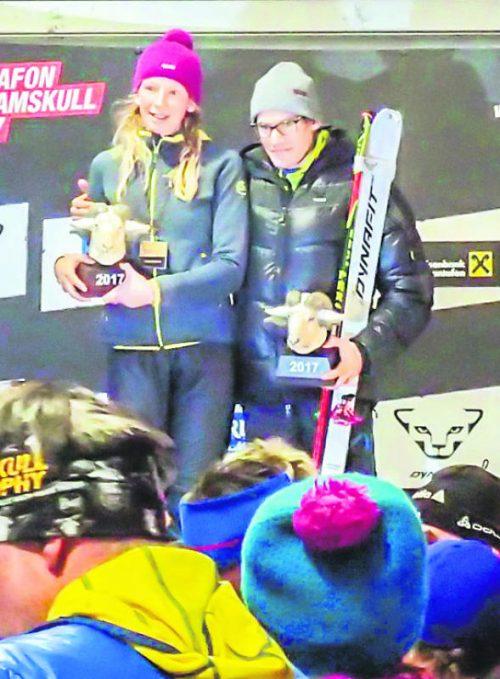 Die Ramskullsieger Martina Senn und Philipp Schädler.