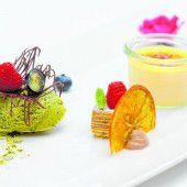 Crème brûlée mit Baumkuchen