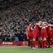 Liverpool mit Silvester-Knaller