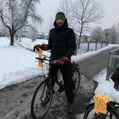 3000 Radler treten im Winter in die Pedale