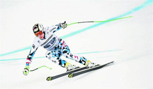 Linienfuchs Hannes Reichelt legte mit der Nummer eins eine Zeit vor, an der die Konkurrenz zerbrach.  Foto: apa