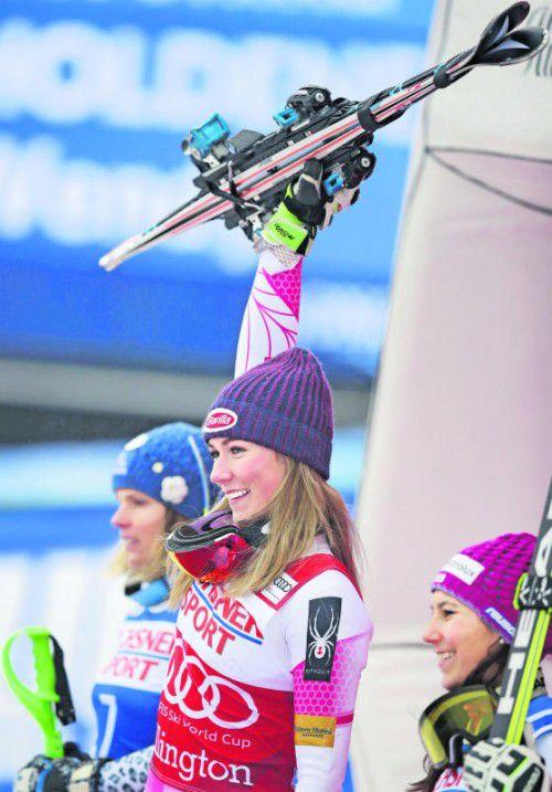 Mikaela Shiffrin ist im Ski-Weltcup der Damen momentan das Maß der Dinge.  Foto: ap