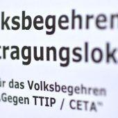 Zäher Verlauf des TTIP-Begehrens