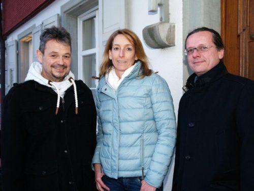 Obmann Walter Rauch mit GF Karen Schillig und Vorstandsmitglied Karl-Heinz Marent ( GF Dörfliche Lebensqualität und Nahversorgung).