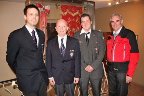 Rettungsquartett: Daniel Plaichner, Martin Sturm, Lukas Lampacher undHans Peter Salomon (v. l.). Foto: VN/js