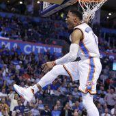 Westbrook mit 18. Triple Double in dieser Saison