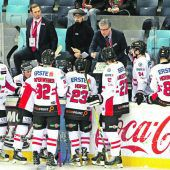 Eishockey-Nationalteam mit acht Vorarlbergern